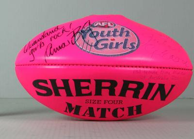 Pink football, Youth Girls' National Australian Football Championship, 2010