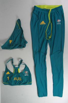 Australian Olympic Team beach volleyball uniform worn by Natalie Cook, 2012
