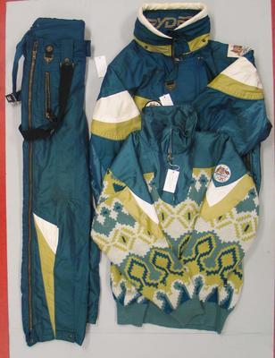Ski sports suit issued to Robert Evans, Australian team uniform, Lillehammer Winter Olympic Games, 1994