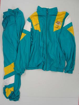 Tracksuit issued to Robert Evans Jr, Australian team uniform, Lillehammer Winter Olympic Games, 1994