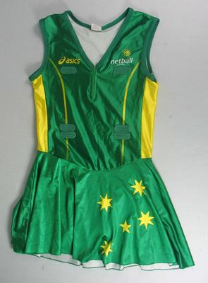 Netball dress worn by Liz Ellis, International Test series, 2007