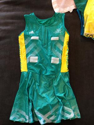 Netball dress worn by Liz Ellis at the XVIIth Commonwealth Games, Manchester, 2002