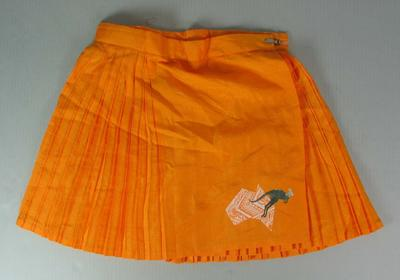 Netball skirt worn by Liz Ellis, International Test series, 1995; Clothing or accessories; N2013.92.9