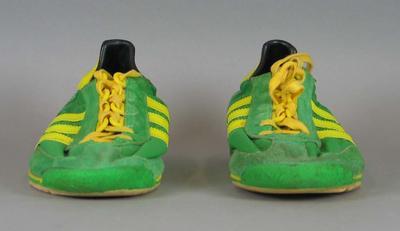 Netball shoes worn by Norma Plummer, World Netball Championships, 1975