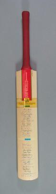 Autographed bat, Bicentennial One Day International Australia v England