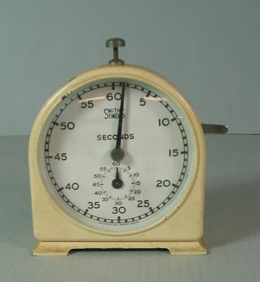 Clock timer, used by Federal Football League