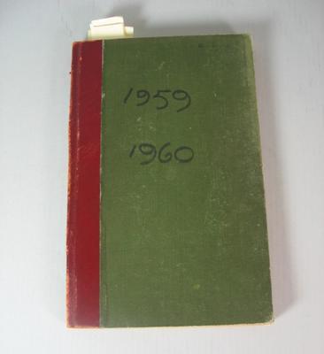 Federal Football League Game Register, 1959-1960.