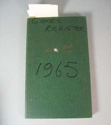 Federal Football League Game Register, 1965