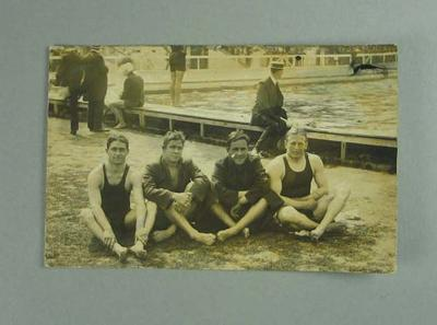 Postcard, image of 1908 Olympic Games Australian swimming team