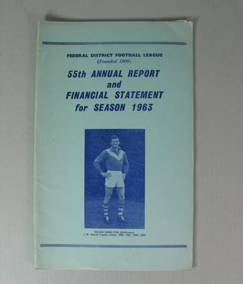 Federal District Football League Fifty Fifth Annual Report and Financial Statement, Season 1963