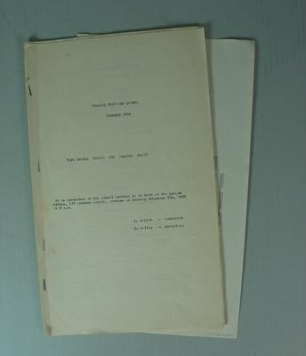 Federal Football League Seventy First Annual Report and Balance Sheet, Season 1979