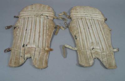 Pair of junior batting pads, c1940s