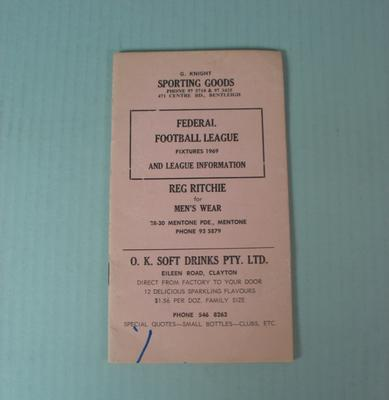 Federal Football League Fixtures, 1969