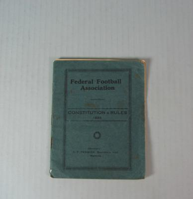Federal Football Association Constitution and Rules, 1925