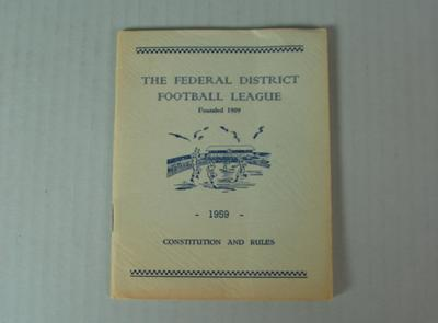 Federal District Football League Constitution and Rules, 1959