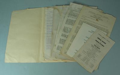 Federal District Football League Annual Reports (1932, 1936, 1955, 1959) and Secretary Reports (1933, 1934, 1935)