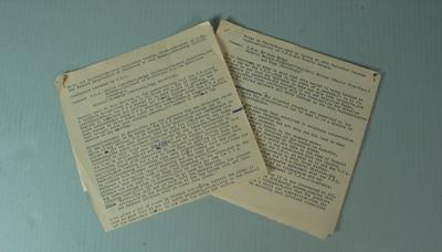 Federal Football League Conference Notes with the Victorian Football Association, 1962