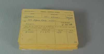 Federal Football League Player Registration Forms for Highett Football Club