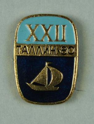 Badge, 1980 Olympic Games - Yachting