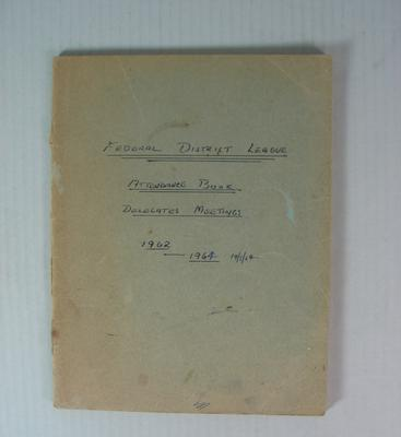 Federal District League Attendance Book, 1962-1964; Documents and books; 2002.3854.208