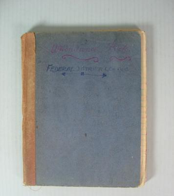 Federal District League Attendance Book, 1956-1960