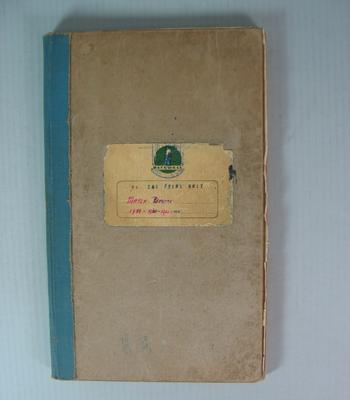 Federal Football League Match Reports Book, 1959-1962