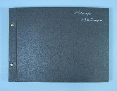 Photograph album with material relating to life and career of Frank Beaurepaire, dated 1953-55