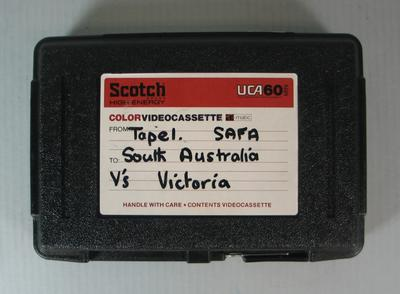 Federal Football League Video and Case, Tape One, South Australia vs. Victoria