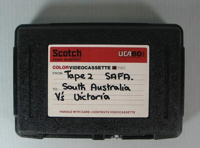 Federal Football League Video and Case, Tape Two, South Australia vs. Victoria