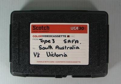 Federal Football League Video and Case, Tape Three, South Australia vs. Victoria