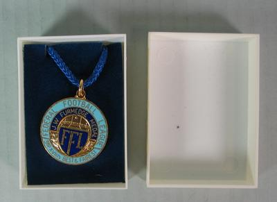 Federal Football League J.W. Furmedge Medal and Case