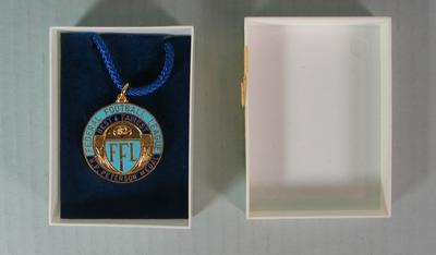 Federal Football League H.P. Peterson Medal and Case