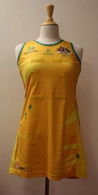 Australian netball uniform worn by Natalie von Bertouch, World Netball Championships, 2011