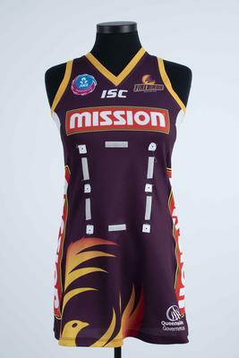 Queensland Firebirds uniform worn by Natalie Medhurst, 2011
