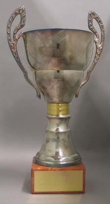 The Prime Minister's Cup awarded to the Mobil Super League Champions, 1991-96; Trophies and awards; N2014.38.5