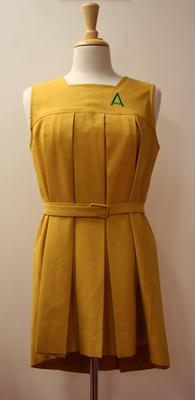 Australian netball uniform worn by T Delany, c.1940s-50s