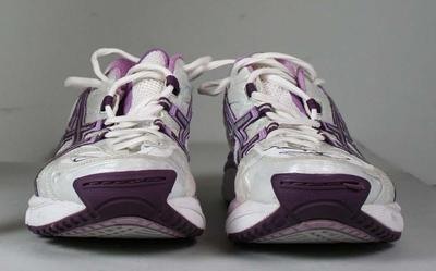 Shoes worn by Queensland Firebirds captain Laura Geitz,  2011