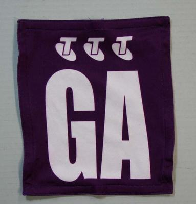 Queensland Firebirds netball team uniform positional patch, 2011