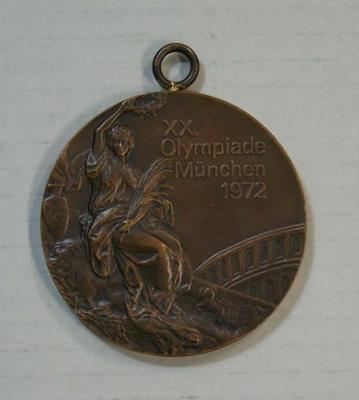 Bronze medal awarded to Shane Gould, 100m freestyle, Munich Olympic Games, 1972