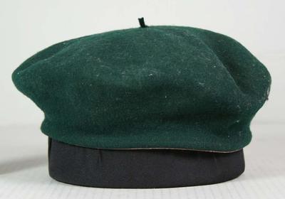 Australian Olympic team beret issued to and worn by Nancy Jane Borwick, 1956