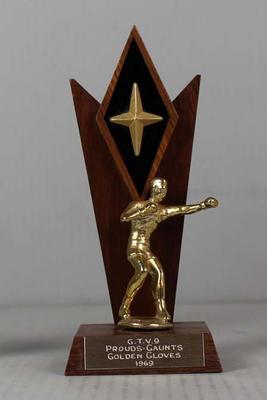GTV 9 Prouds-Gaunts Golden Gloves trophy won by Henry Nissen, 1969