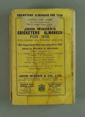 Wisden Cricketers' Almanack, 1936