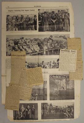Newspaper clippings relating to life & career of Frank Beaurepaire, dated 1907