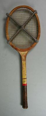 Spalding school tennis racquet used by Rachel Naughton, Mount Erin Presentation Convent, c.1959 - 1963