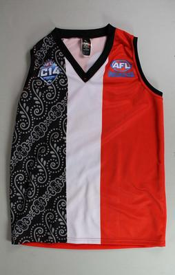 Indonesia Garudas guernsey worn by Boy Pasaribu, AFL International Cup, 2014