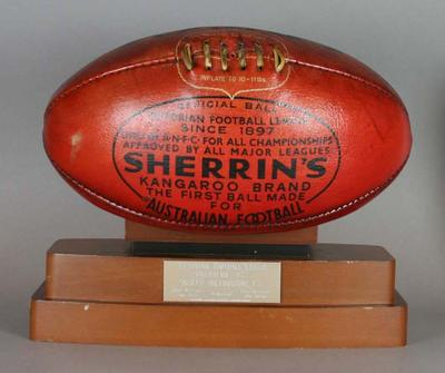 Football used in VFL Grand Final, 1977