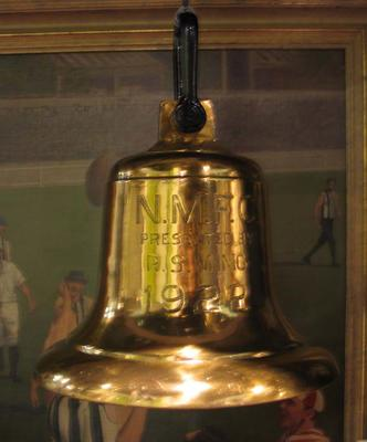 Time bell used at Arden Street Oval, c. 1922