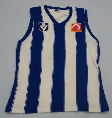 North Melbourne guernsey worn by Mick Nolan, c. 1970s