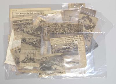 Newspaper clippings relating to life & career of Frank Beaurepaire, dated 1932