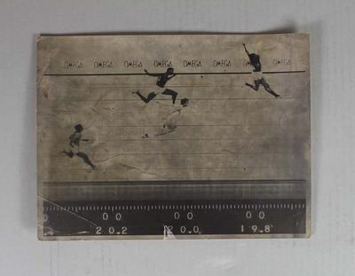 Original print of photo finish of the men's 200m final, Mexico City Olympic Games, 1968